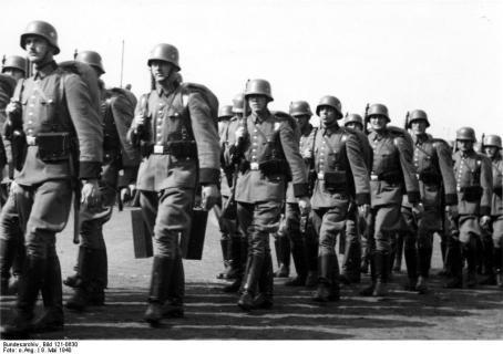 Verabschiedung eines Reservebataillons (9.) nach Norwegen, 9.5.1940